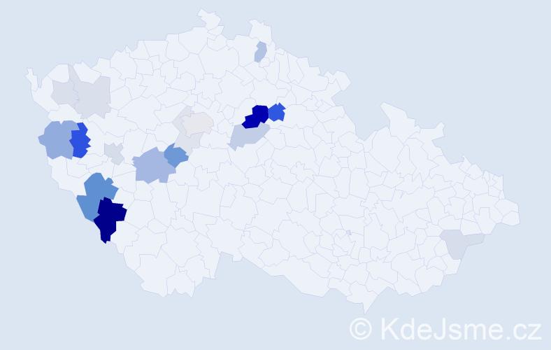 Příjmení: 'Kratejl', počet výskytů 48 v celé ČR