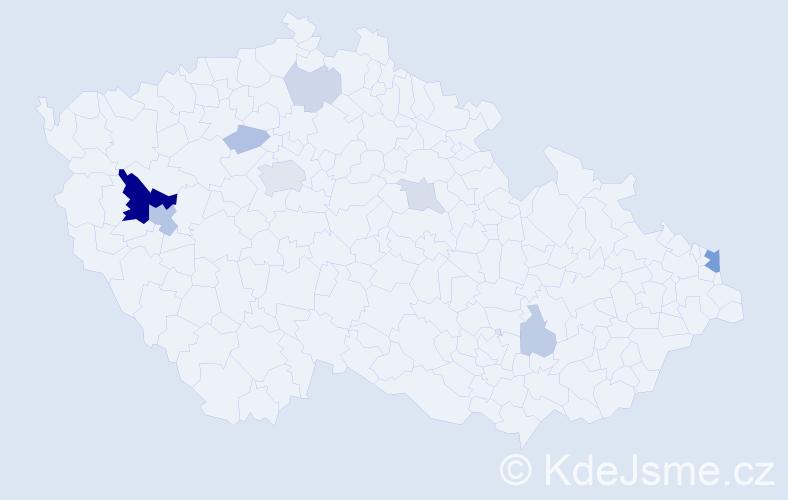 Příjmení: 'Banertová', počet výskytů 25 v celé ČR