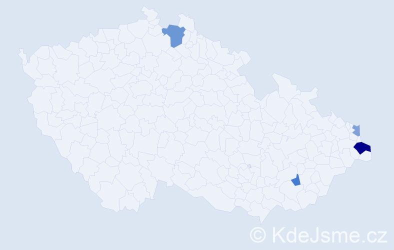 Příjmení: 'Iordache', počet výskytů 7 v celé ČR