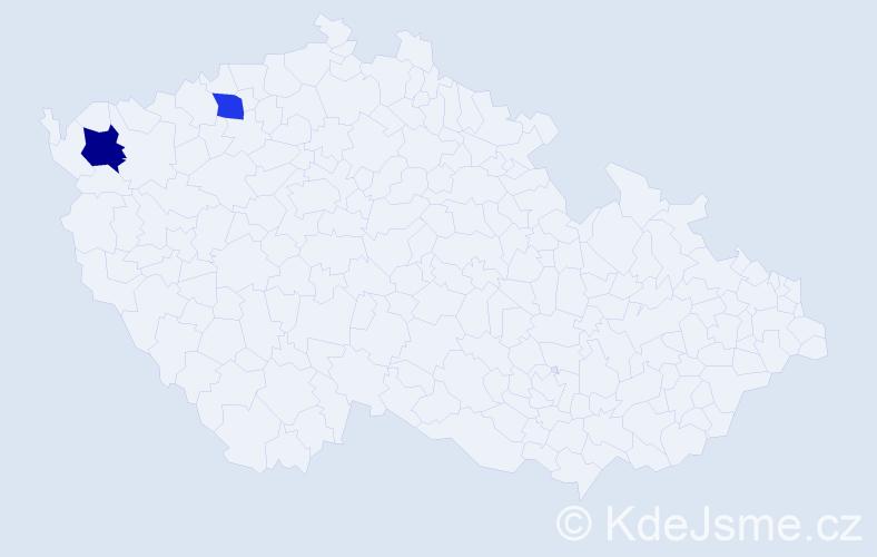 Příjmení: 'Dubiczki', počet výskytů 5 v celé ČR