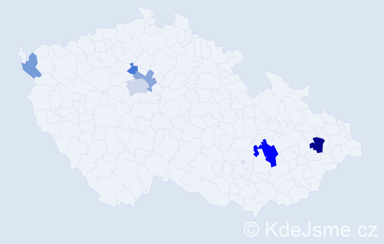 Příjmení: 'Brídziková', počet výskytů 13 v celé ČR