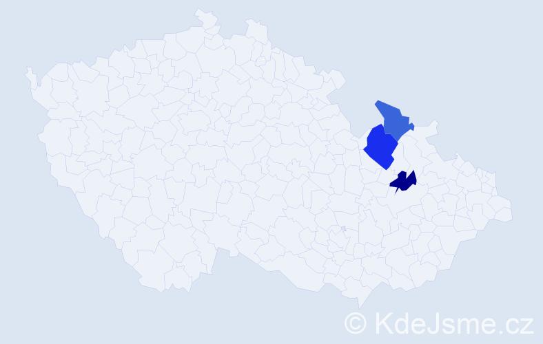 Příjmení: 'Babutzký', počet výskytů 4 v celé ČR