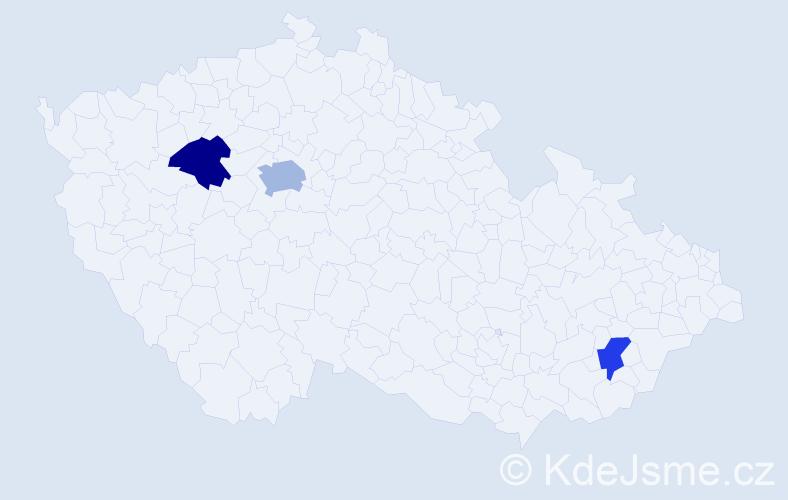 Příjmení: 'Cibuľková', počet výskytů 4 v celé ČR