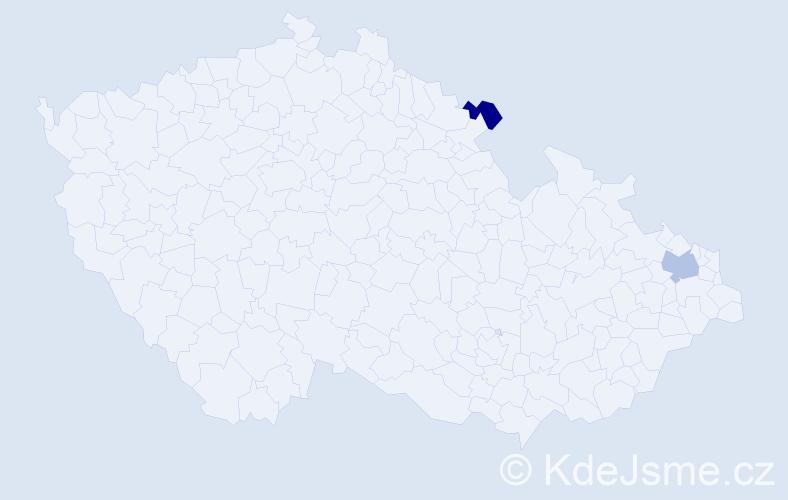 Příjmení: 'Kolinkeová', počet výskytů 5 v celé ČR