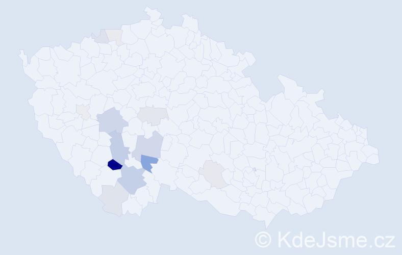 Příjmení: 'Neškodná', počet výskytů 31 v celé ČR
