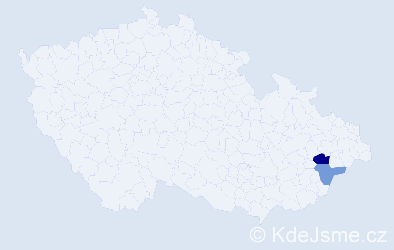 Příjmení: 'Jasenáková', počet výskytů 3 v celé ČR