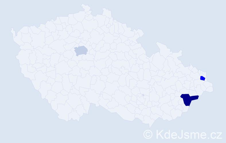 Příjmení: 'Cygánová', počet výskytů 3 v celé ČR