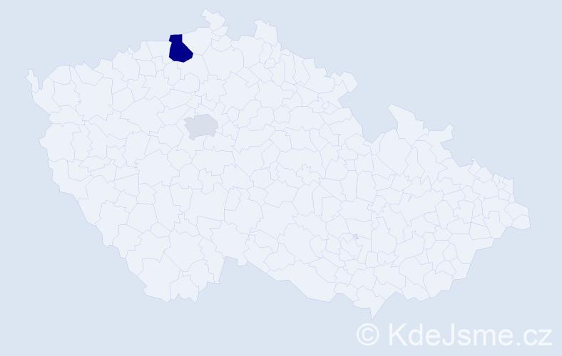 Příjmení: 'Iseni', počet výskytů 4 v celé ČR