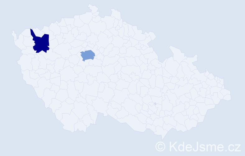 Příjmení: 'Dobiašovský', počet výskytů 7 v celé ČR