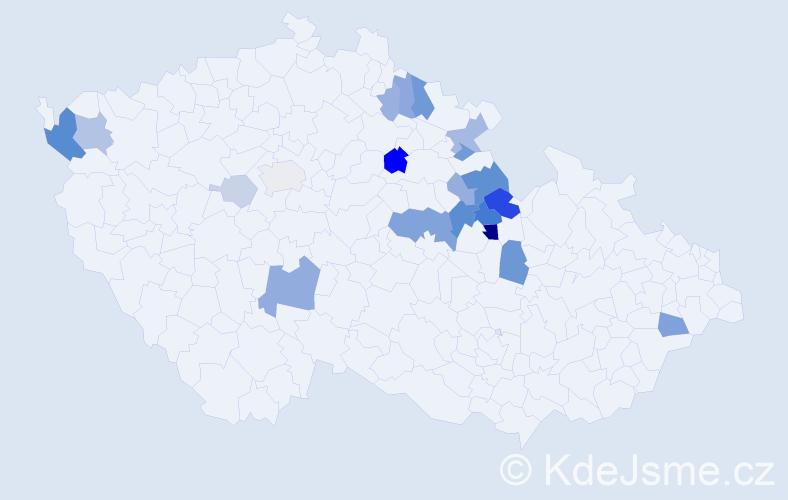 Příjmení: 'Hotmar', počet výskytů 49 v celé ČR