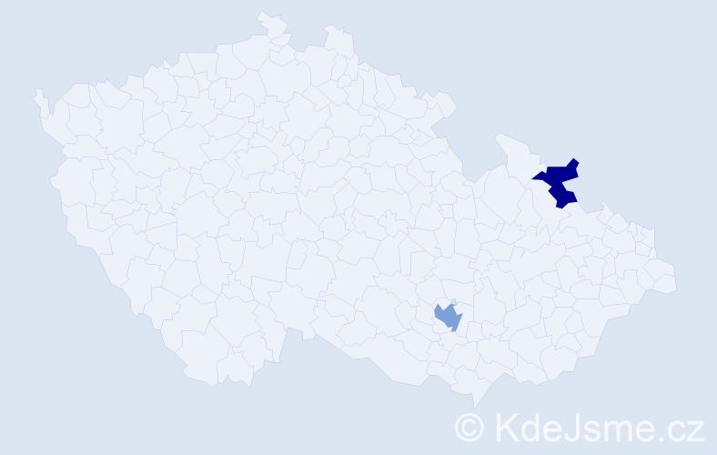 Příjmení: 'Janusisová', počet výskytů 5 v celé ČR