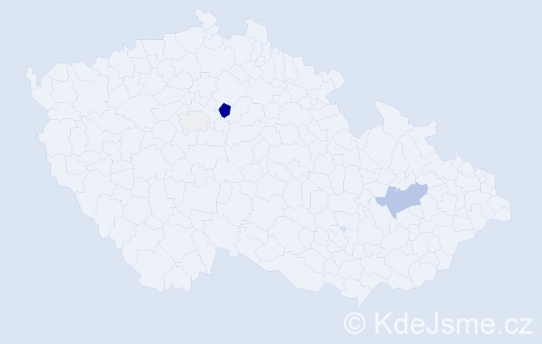 Příjmení: 'Čepěl', počet výskytů 9 v celé ČR