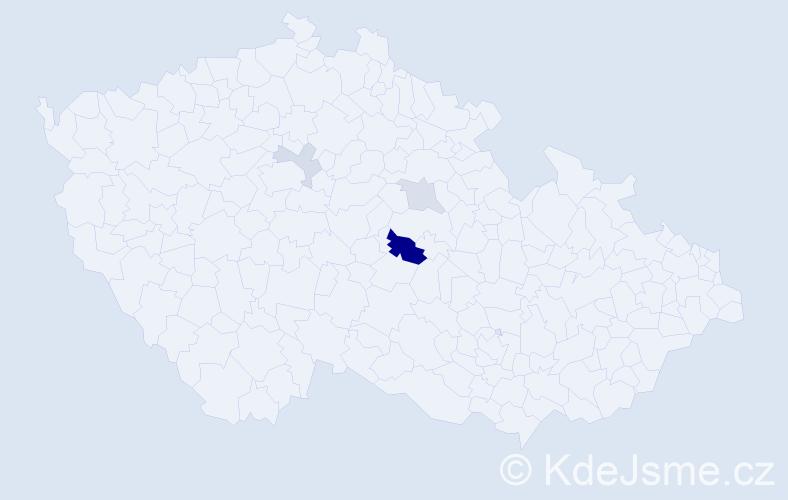Příjmení: 'Hiblbauerová', počet výskytů 7 v celé ČR