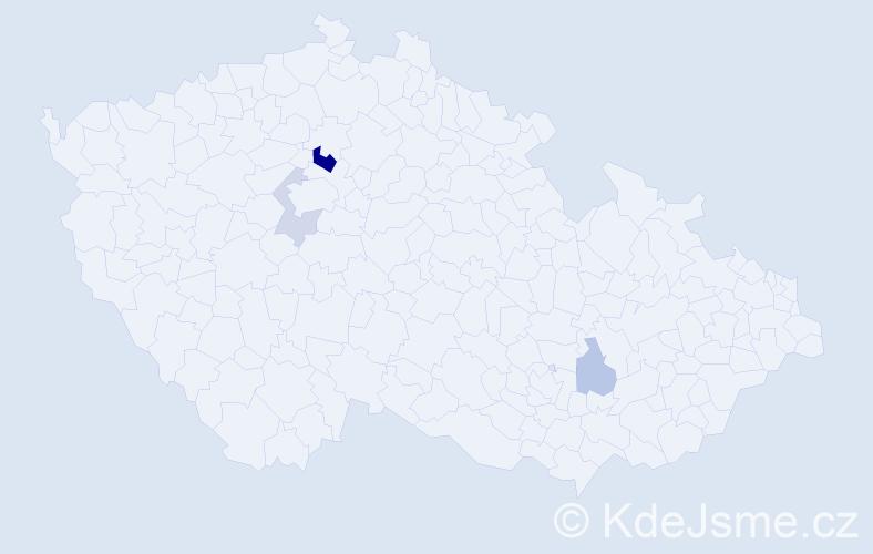 Příjmení: 'Cúthová', počet výskytů 7 v celé ČR