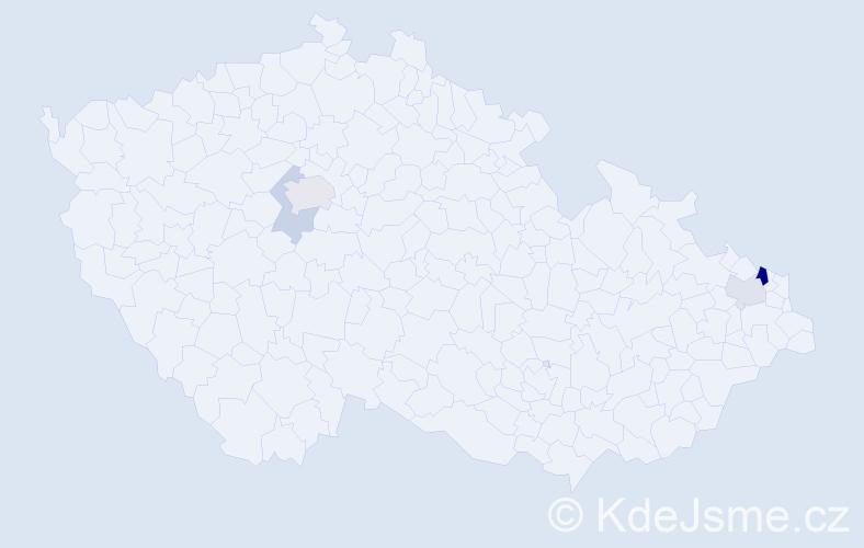 Příjmení: 'Celecký', počet výskytů 8 v celé ČR