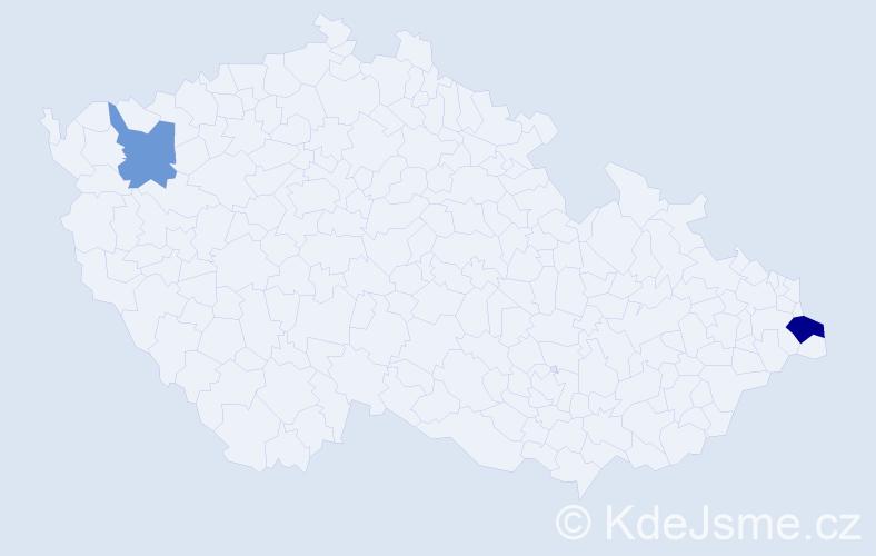 Příjmení: 'Kaputa', počet výskytů 6 v celé ČR