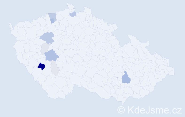 Příjmení: 'Kressl', počet výskytů 35 v celé ČR