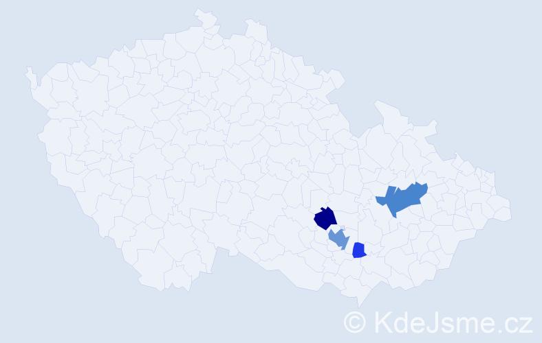 Příjmení: 'Ehrmann', počet výskytů 13 v celé ČR