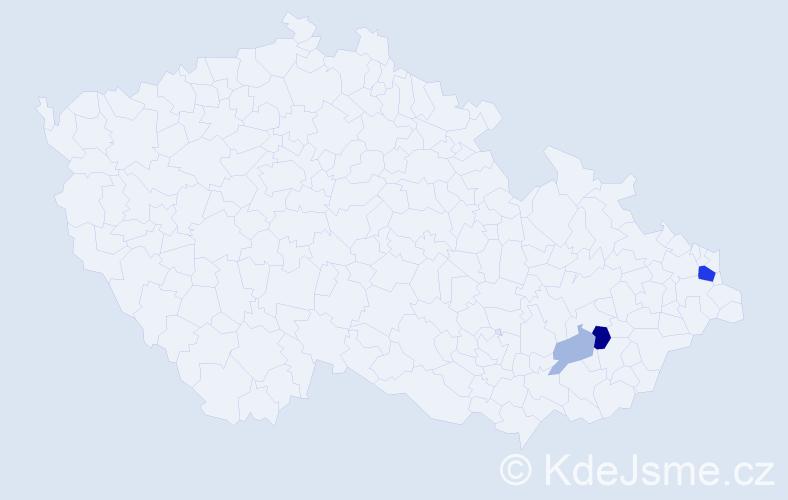 Příjmení: 'Gunčík', počet výskytů 8 v celé ČR