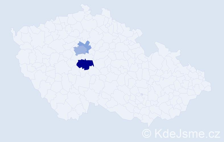 Příjmení: 'Atie', počet výskytů 10 v celé ČR