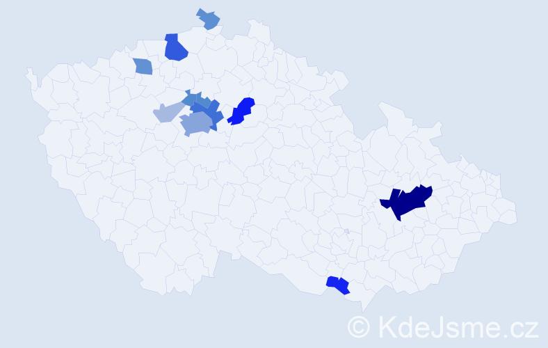Příjmení: 'Lachmannová', počet výskytů 35 v celé ČR
