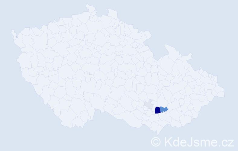 Příjmení: 'Lelitovská', počet výskytů 5 v celé ČR