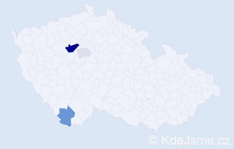 Příjmení: 'Andruchovičová', počet výskytů 9 v celé ČR