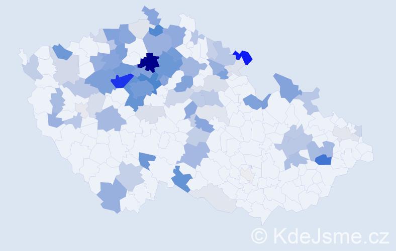 Příjmení: 'Kettnerová', počet výskytů 353 v celé ČR