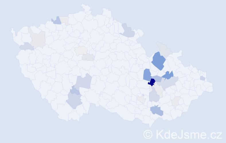 Příjmení: 'Aberle', počet výskytů 72 v celé ČR