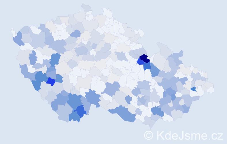 Příjmení: 'Čada', počet výskytů 1072 v celé ČR