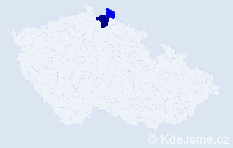 Příjmení: 'Luciová', počet výskytů 6 v celé ČR