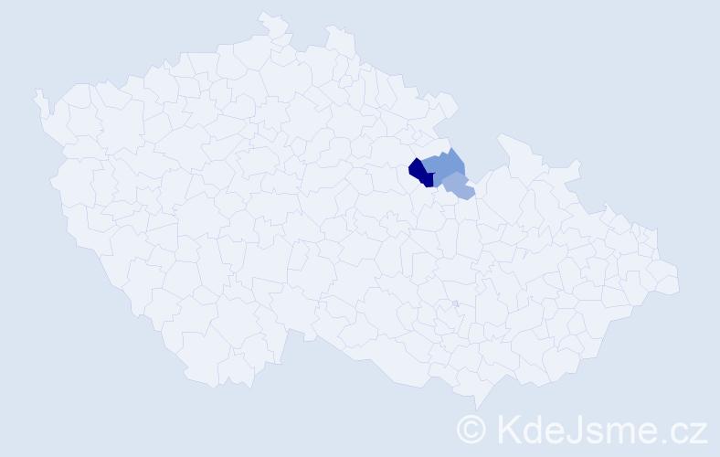Příjmení: 'Kulšteinová', počet výskytů 8 v celé ČR