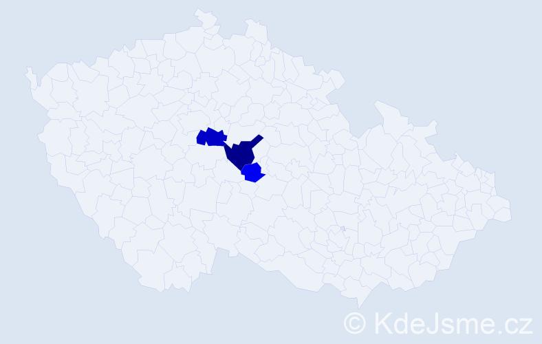 Příjmení: 'Kolůvek', počet výskytů 7 v celé ČR