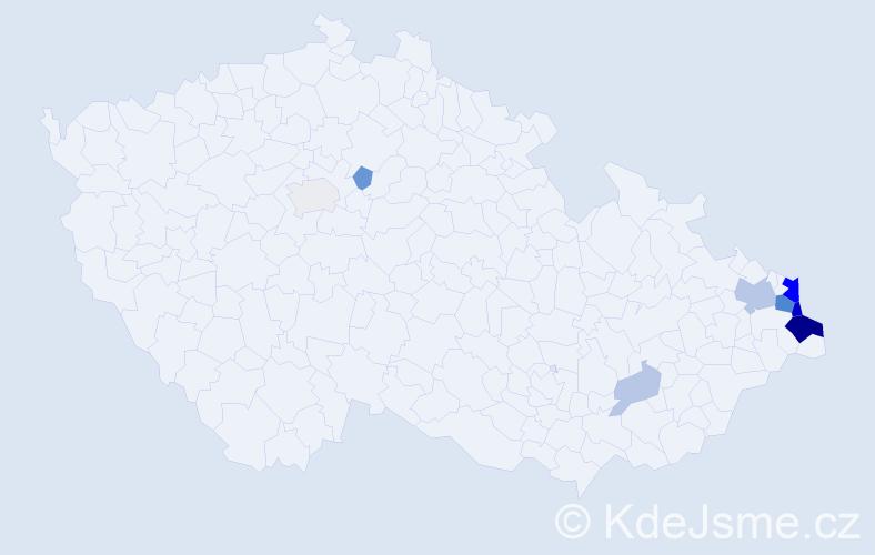 Příjmení: 'Vitoš', počet výskytů 28 v celé ČR