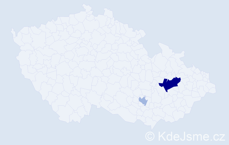 Příjmení: 'Hrázdilová', počet výskytů 4 v celé ČR