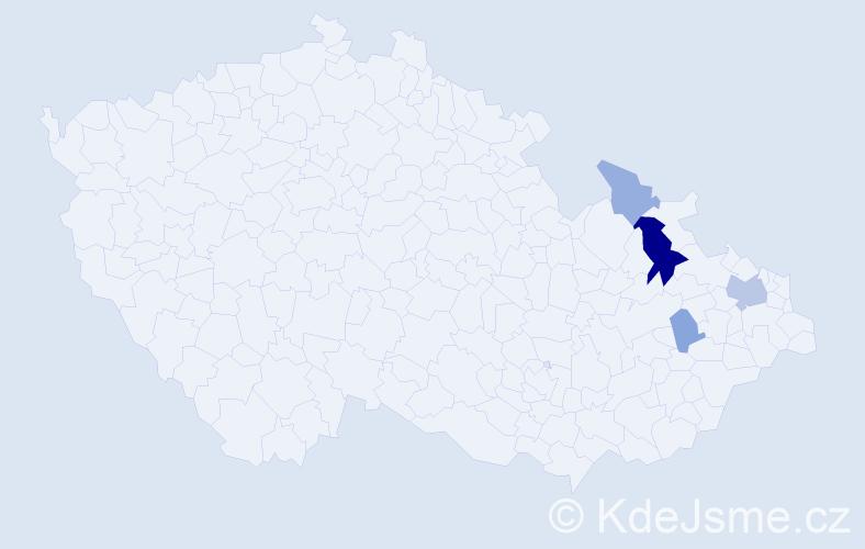 Příjmení: 'Bukur', počet výskytů 10 v celé ČR