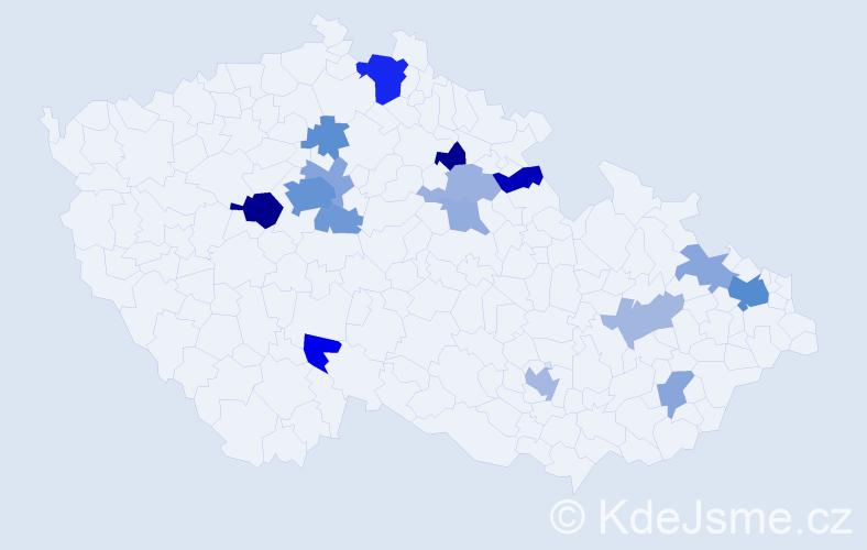 Příjmení: 'Goldsteinová', počet výskytů 39 v celé ČR