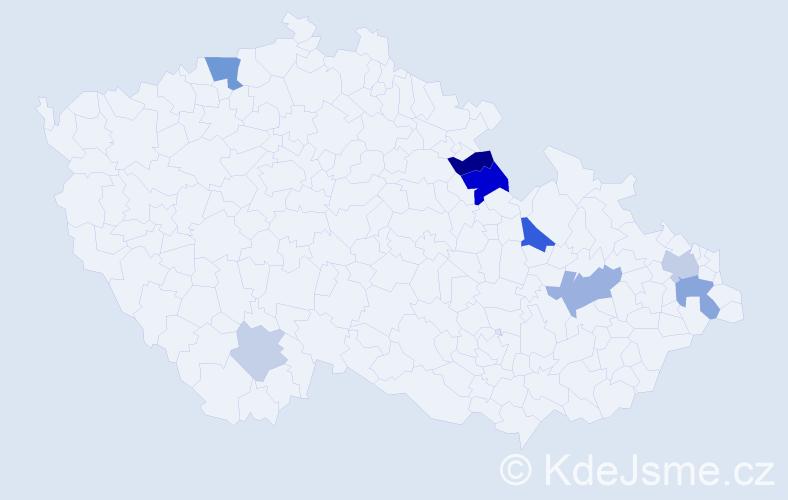 Příjmení: 'Gruškovský', počet výskytů 17 v celé ČR