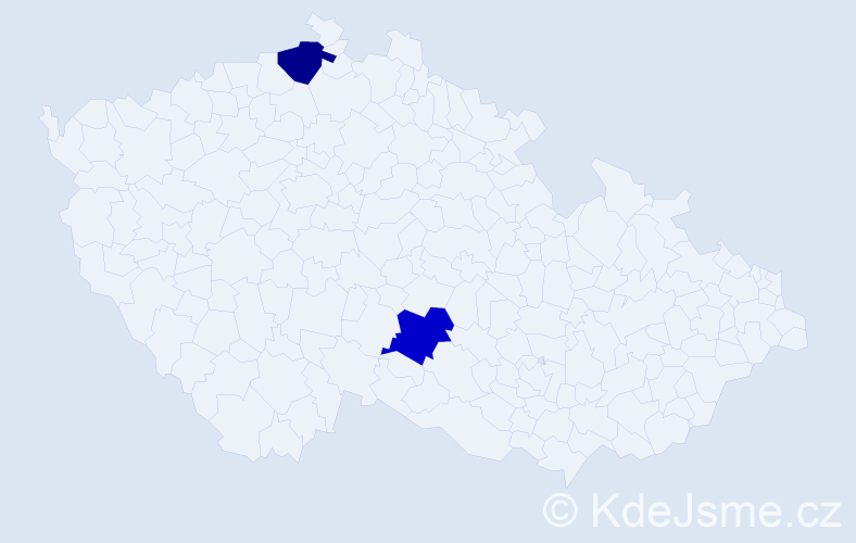 Příjmení: 'Itterheim', počet výskytů 4 v celé ČR