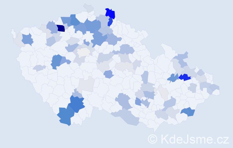 Příjmení: 'Daňo', počet výskytů 344 v celé ČR