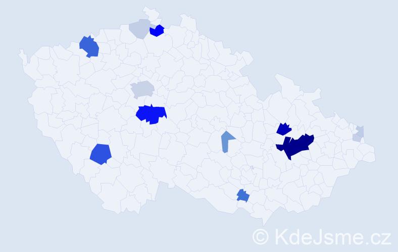 Příjmení: 'Johanes', počet výskytů 51 v celé ČR