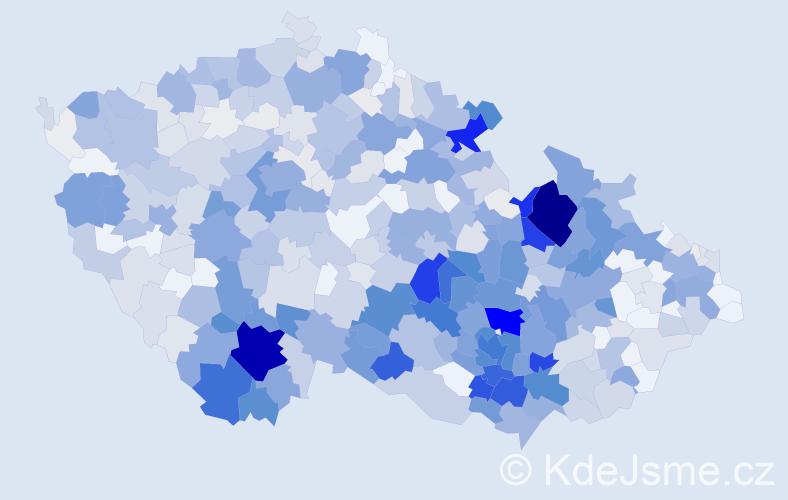 Příjmení: 'Klimeš', počet výskytů 3106 v celé ČR
