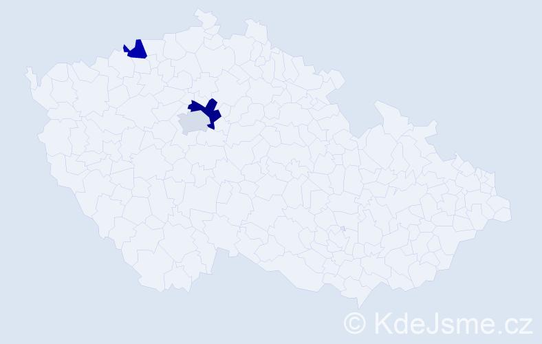 Příjmení: 'Citriak', počet výskytů 4 v celé ČR