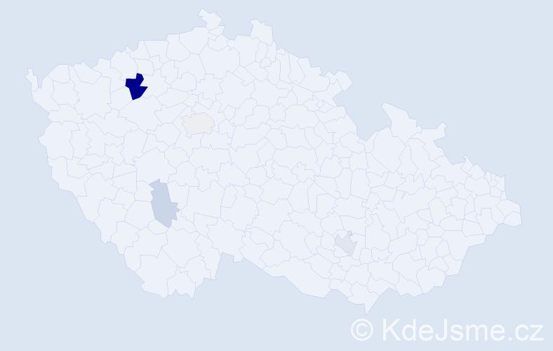 Příjmení: 'Bemová', počet výskytů 11 v celé ČR