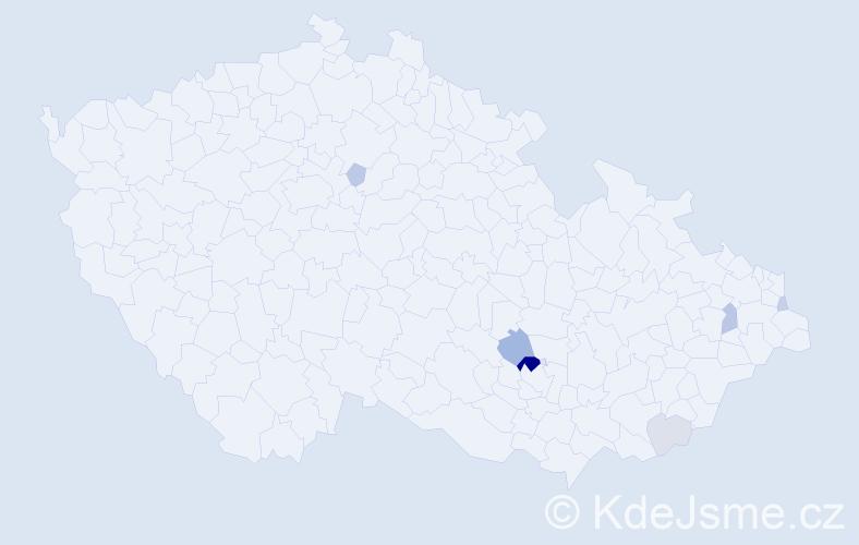 Příjmení: 'Barašová', počet výskytů 16 v celé ČR