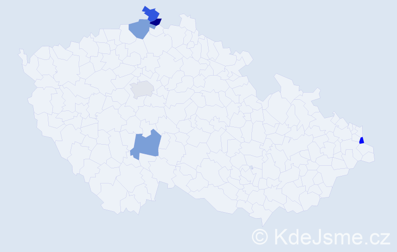 Příjmení: 'Barlok', počet výskytů 6 v celé ČR