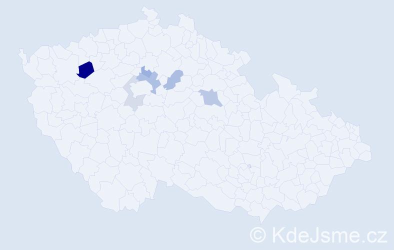 Příjmení: 'Elbogen', počet výskytů 10 v celé ČR