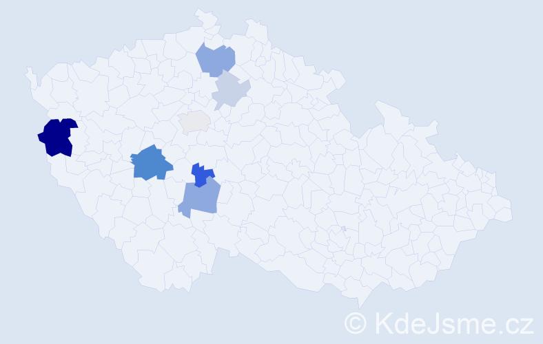 Příjmení: 'Diartová', počet výskytů 34 v celé ČR
