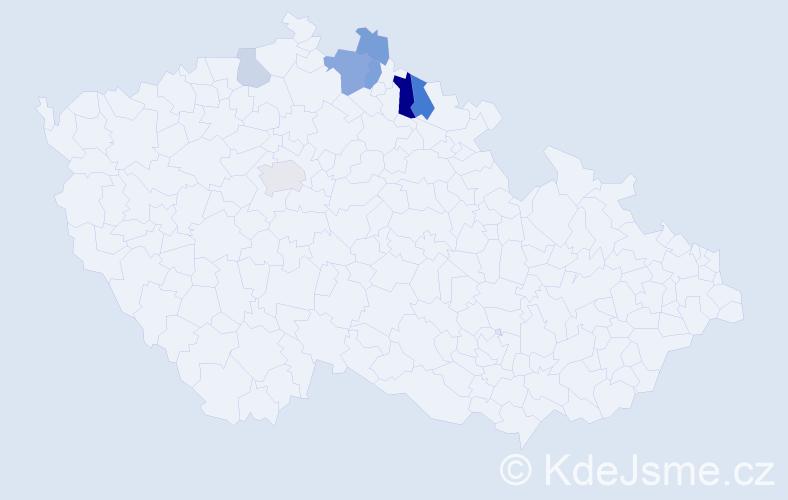 Příjmení: 'Faistauerová', počet výskytů 14 v celé ČR