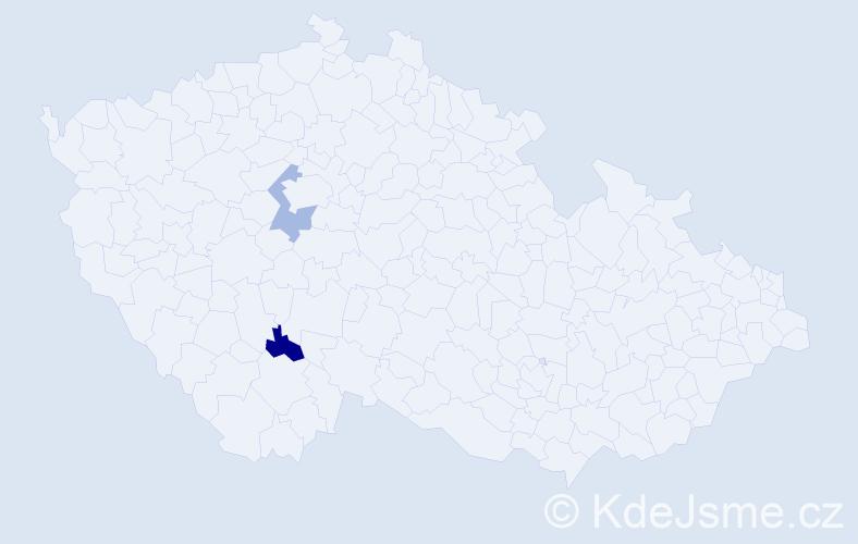 Příjmení: 'Follpracht', počet výskytů 2 v celé ČR